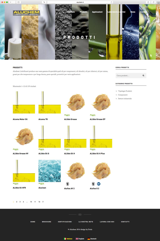 Dotis - Aluchem: Progettazione e sviluppo sito web 3 lingue, indicizzazione, seo