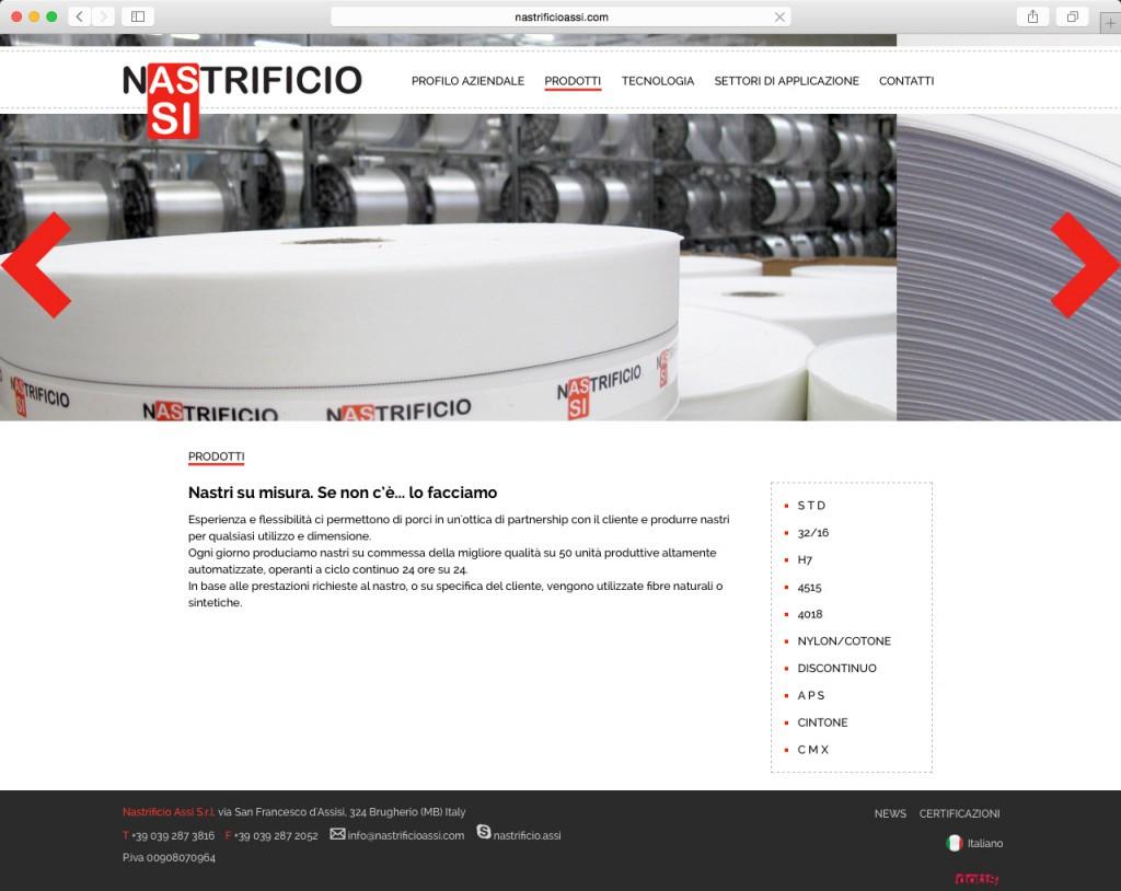 Dotis - Nastrificio Assi: progettazione e sviluppo sito web, indicizzazione, shooting fotografico