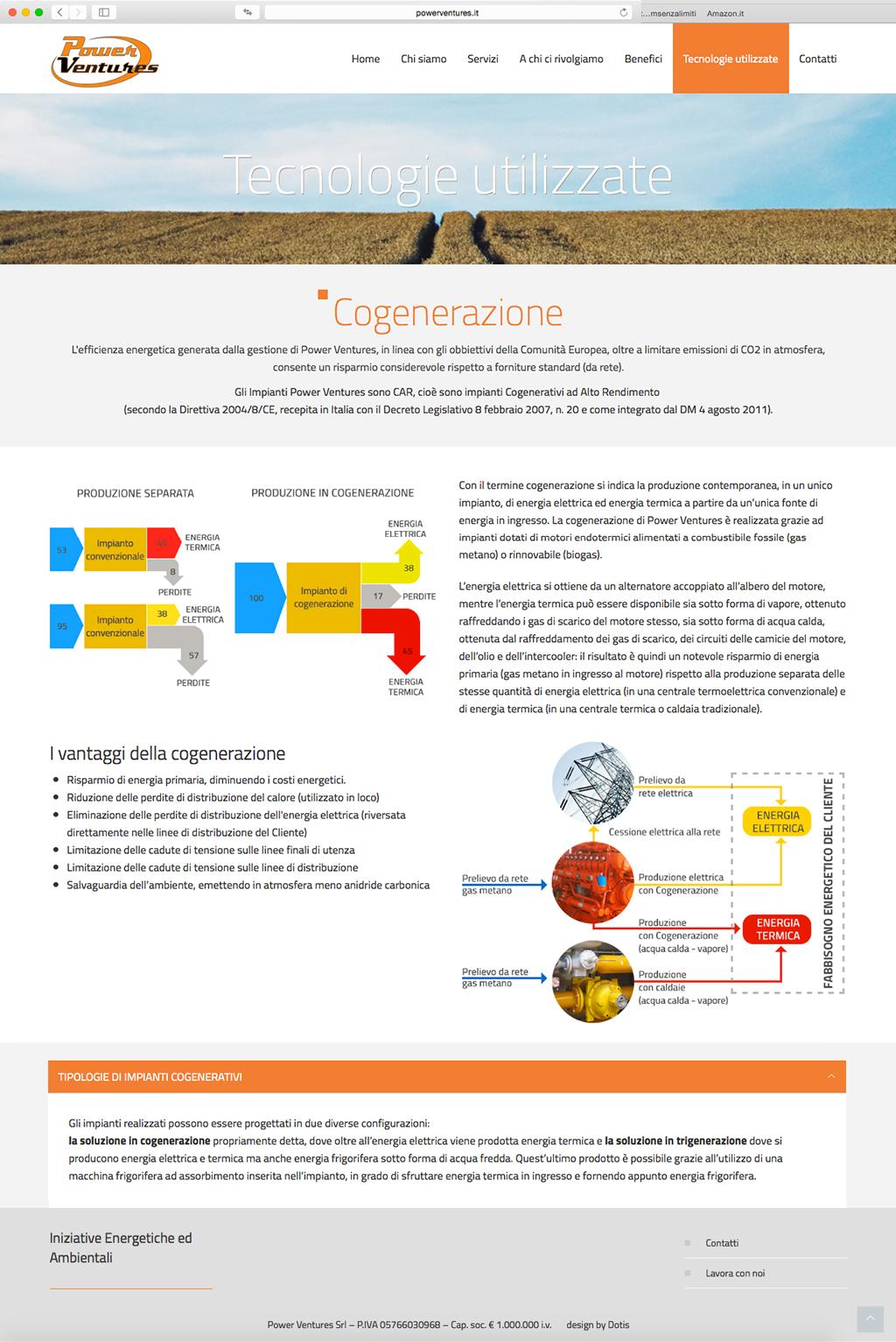 Dotis - PowerVentures: Progettazione e sviluppo sito web in 2 lingue, indicizzazione, seo